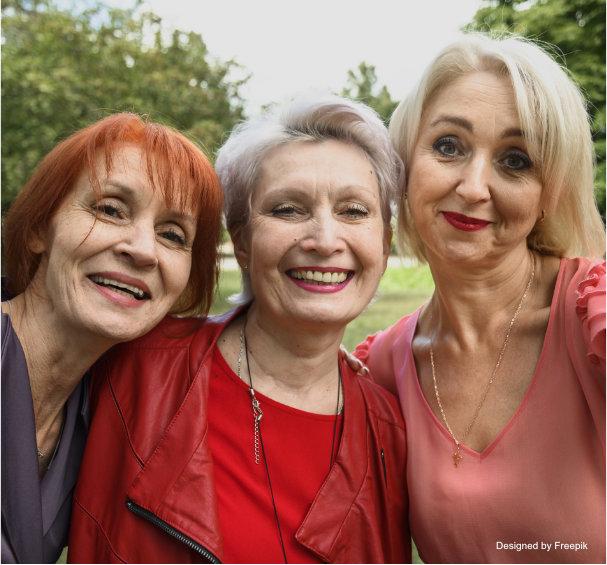 Ältere Frauen unter sich