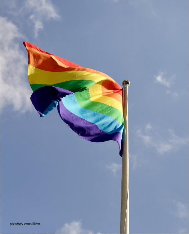 Regenbogenflagge als Symbol der Leben- und Schwulenbewegung