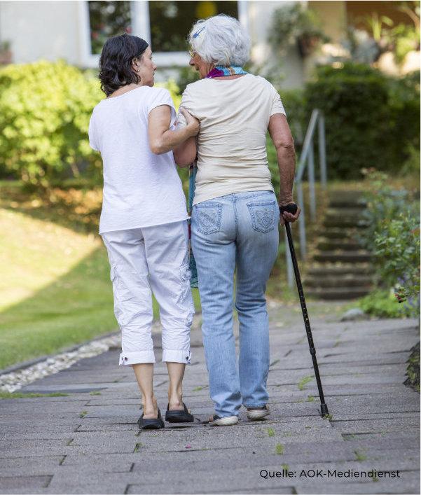 Hilfe zur Bewegung und Mobilität bei Pflegebedürftigen