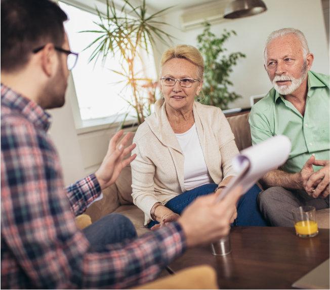 Beratung älteres Ehepaar