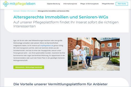 Altersgerechte Immobilien und Senioren-WGs