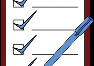 Checkliste und Stift