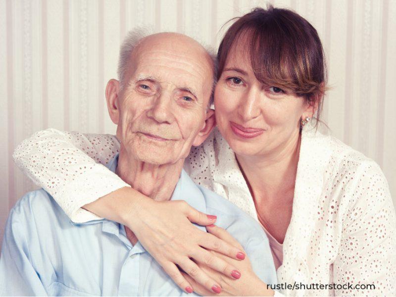 Pflegebedürftiger mit pflegender Angehöriger