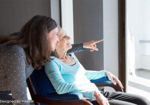 Pflegebedürftige und pflegende Angehörige